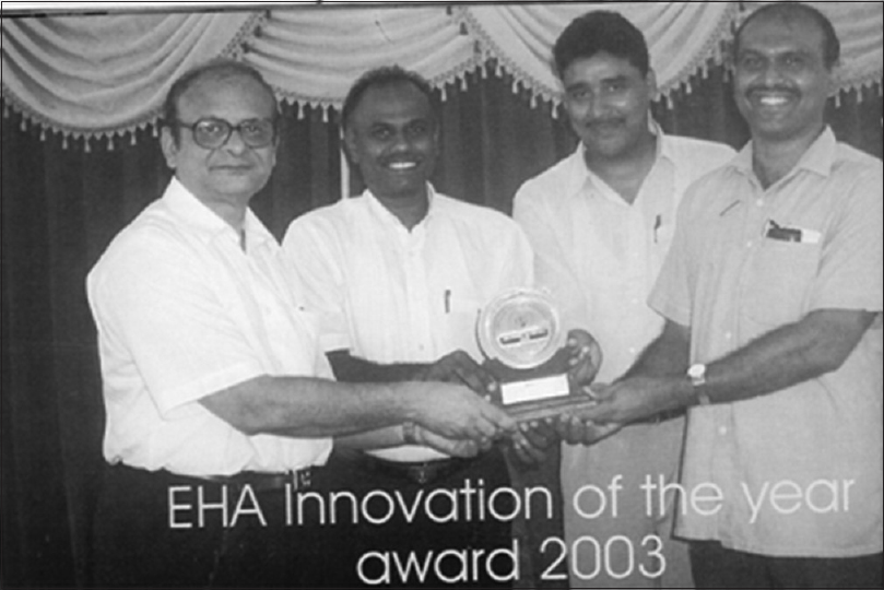 Figure 1: Innovation award from EHA